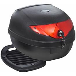 Moottoripyörän takatelineen laukku, 36 L, yhdelle kypärälle