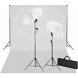 Studiosarja valkoisella taustakankaalla & valoilla, 600x300 cm