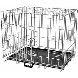 Kokoontaitettava koiranhäkki, 61x76x55cm, M