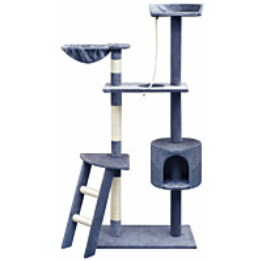 Kissan raapimispuu, sisal-pylväillä, 1 pesällä, 150cm, tummansininen