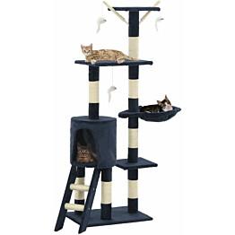 Kissan raapimispuu, sisal-pylväillä, 49x35x138cm, tummansininen