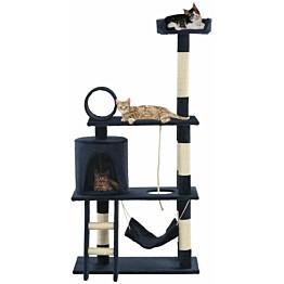 Kissan raapimispuu, sisal-pylväillä, 70x35x140cm, tummansininen