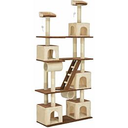 Kissan raapimispuu, sisal-pylväillä, 100x40x225cm, beige