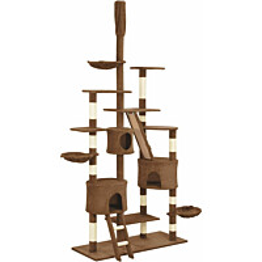 Kissan raapimispuu, sisal-pylväillä, 60x50x255cm, ruskea