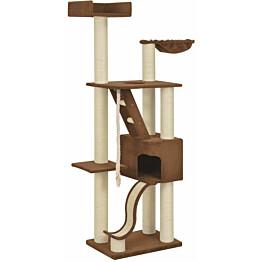 Kissan raapimispuu, sisal-pylväillä, 60x40x180cm, beige