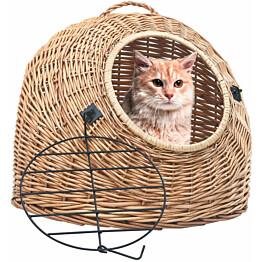 Kissan kuljetuskori, 60x45x45cm, luonnollinen paju