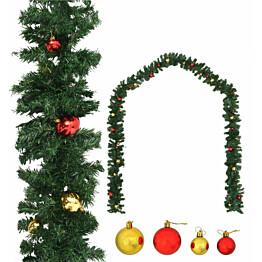 Jouluköynnös, koristeltu joulupalloilla, 20 m