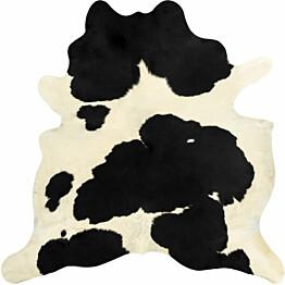 Lehmäntaljamatto 150x170cm musta/valkoinen
