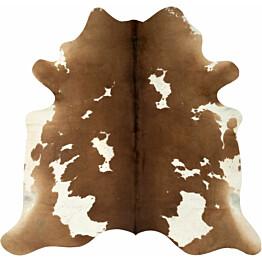 Lehmäntaljamatto 150x170cm ruskea/valkoinen