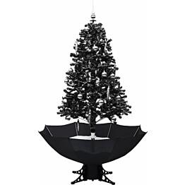 Lunta satava joulukuusi sateenvarjopohjalla, musta, 170cm, PVC