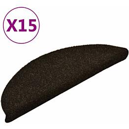 Porrasmatot 15kpl 56x17x3cm itsekiinnittyvä tummanruskea