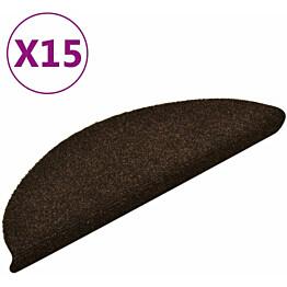 Porrasmatot 15kpl 56x17x3cm itsekiinnittyvä neulahuopa ruskea
