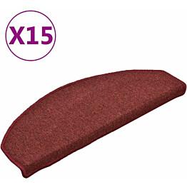 Porrasmatot 15kpl 65x24x4cm punainen