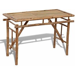 Kokoontaitettava puutarhapöytä, 120x50x77 cm, bambu