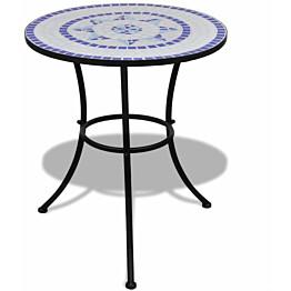 Bistropöytä 60 cm, sininen ja valkoinen mosaiikki