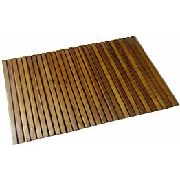 Kylpyhuoneen matto 80x50cm akaasia