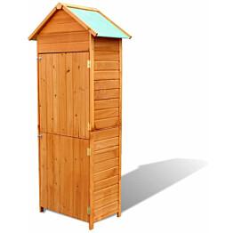Puutarhan säilytyslaatikko, 79x49x190 cm, ruskea