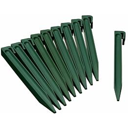 Puutarhan maatapit, 10kpl, 267mm, vihreä