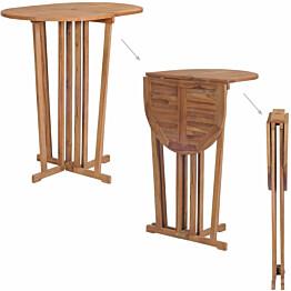 Kokoontaitettava baaripöytä, 100x65x105 cm, tiikki