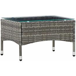 Sohvapöytä, 60x40x36 cm, harmaa polyrottinki