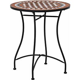 Mosaiikkibistropöytä, ? 60 cm, ruskea keramiikka