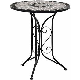 Mosaiikkibistropöytä, ? 61 cm, harmaa keramiikka