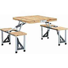 Retkipöytä neljällä istuimella, 67x72.5x85.5cm, teräs/alumiini