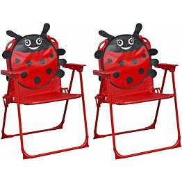 Lasten puutarhatuolit 2 kpl, punainen kangas