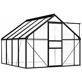 Kasvihuone alumiinirungolla 4,75 m², antrasiitti
