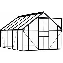Kasvihuone alumiinirungolla 5,89 m², antrasiitti
