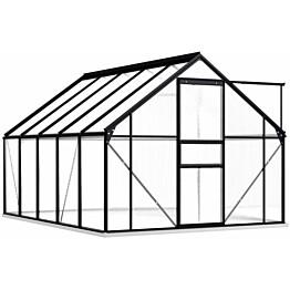 Kasvihuone alumiinirungolla 5,89 m², 190x310x202 cm, antrasiitti