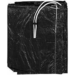 Aurinkovarjon suojus vetoketjulla, PE, 175 cm