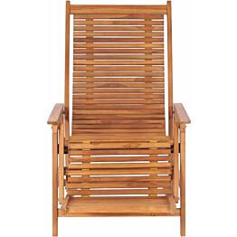 Puutarhatuoli jalkatuella, 67.5x117x106.5 cm, tiikki