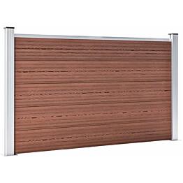 Puutarha-aita, puukomposiitti, 180x105cm, 9 paneelia, ruskea