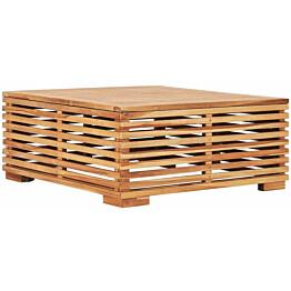 Puutarhapöytä, 69.5x69.5x31 cm, täysi tiikki