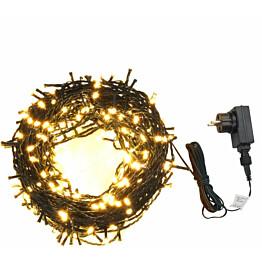 Valonauha, 400 LED-valoa, 40 m, 8 valoefektiä, IP44, lämmin valkoinen