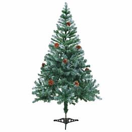 Huurteinen joulukuusi kävyillä, 150cm