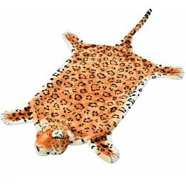 Taljamatto leopardi 139cm plyysi ruskea