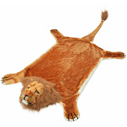 Taljamatto leijona 205cm plyysi ruskea