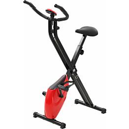 Kuntopyörä X-bike, magneettinen, sykemittarilla, musta/punainen