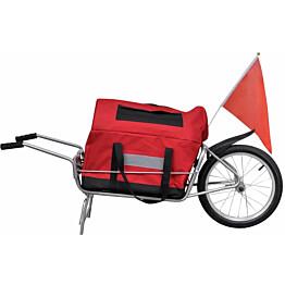 Polkupyörän peräkärry, laukulla, yksipyöräinen
