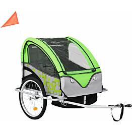 Pyöräkärry, 40kg, vihreä/harmaa
