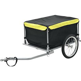 Polkupyörän peräkärry, 65kg, musta/keltainen