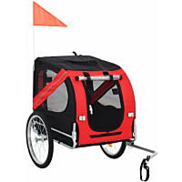 Koirankuljetuskärry polkupyörään, 90x73x137cm, musta/punainen