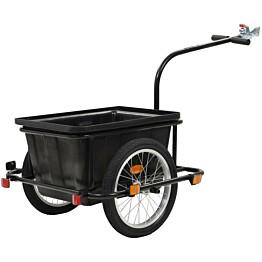 Polkupyörän peräkärry, 50L, musta