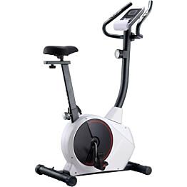 Kuntopyörä, magneettinen, sykemittauksella, musta/valkoinen