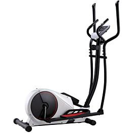 Crosstrainer, magneettinen, sykemittauksella, musta/valkoinen