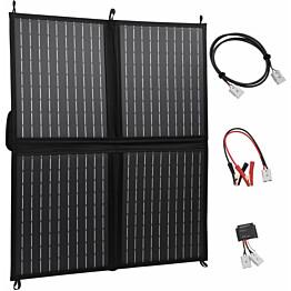 Kokoontaitettava aurinkopaneelilaturi 80 W 12 V