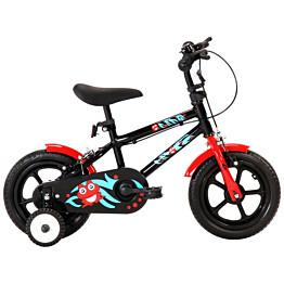 """Lasten pyörä 12"""" musta/punainen"""