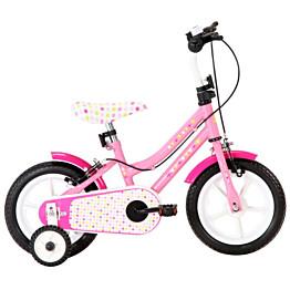 """Lasten pyörä 12"""" valkoinen/pinkki"""